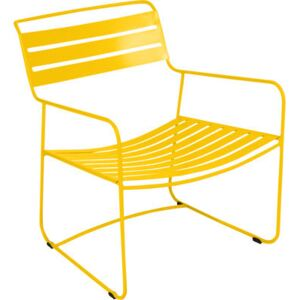 Surprising Lounger Low armchair by Fermob Yellow