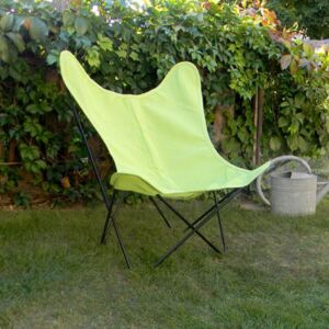 AA Butterfly OUTDOOR Armchair - / Batyline - Black structure by AA-New Design Green