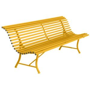 Louisiane Bench with backrest - / L 200 cm - Metal by Fermob Yellow