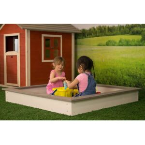 Sunny Wooden Sandpit 127x127 cm Brown and White C052.001.00