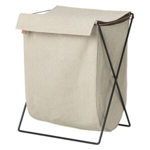 Herman Laundry basket - Metal & fabric by Ferm Living White/Beige