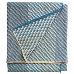 Inlet Cashmere Throw - 145 x 180 cm / Teal / Cashmere Wool