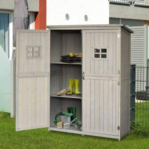Outsunny Wooden Outdoor Garden Shed 127.5L x 50W x 164H cm Grey