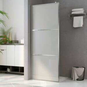VidaXL Walk-in Shower Wall with Whole Frosted ESG Glass 100x195 cm