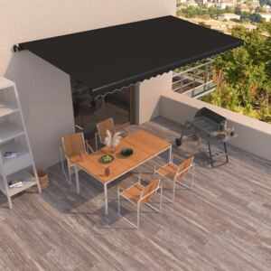 VidaXL Manual Retractable Awning 600x350 cm Anthracite