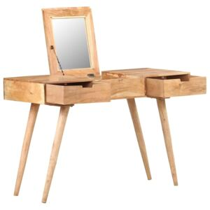 Dressing Table with Mirror 112x45x76 cm Solid Acacia Wood