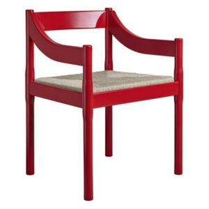 Carimate Armchair - / Vico Magistretti (1959) - 100th anniversary limited and numbered edition by Fritz Hansen Red