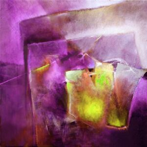 Illustration another moment on another day - yellow and purple, Annette Schmucker