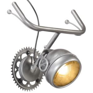 Wall Lamp in Bicycle Part Design Iron