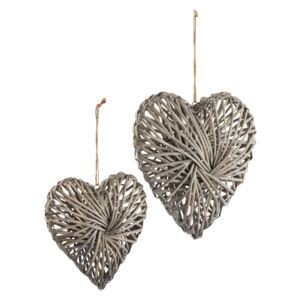 Country Living Wicker Hearts - Set of 2