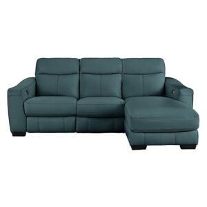 Cressida Leather Corner Chaise Recliner Sofa- World of Leather