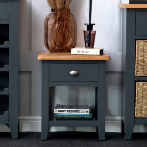 Gloucester Midnight Grey Painted Lamp Table