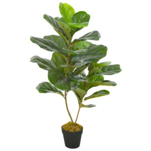 Artificial Plant Fiddle Leaves with Pot Green 90 cm