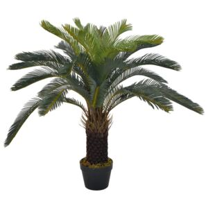 Artificial Plant Cycas Palm with Pot Green 90 cm