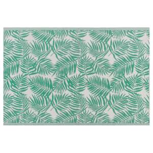 Outdoor Rug Mat Green Synthetic 160 x 230 cm Palm Leaf Floral Pattern Modern Balcony Patio Terrace Beliani