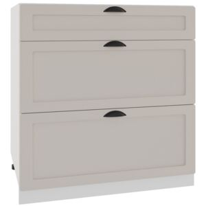 FURNITOP Lower Kitchen Cabinet ADELE D80 S/3 coffe