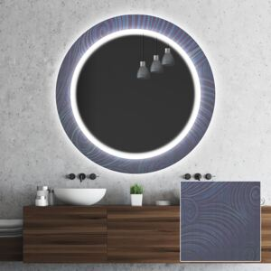Round light up decorative mirror for the bathroom wall