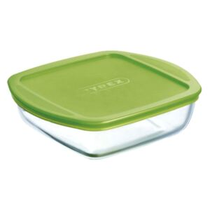Glass casserole baking dish heat-resistant Cook & Store with lid 20 x 17 x 5,5 cm PYREX