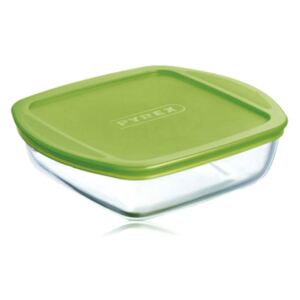 Glass casserole baking dish heat-resistant Cook & Store with lid 25 x 22 x 7 cm PYREX