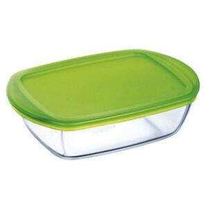 Glass casserole baking dish heat-resistant Cook & Store with lid 28 x 20 x 8 cm PYREX