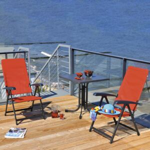 Table Dine & Relax 70 x 70 cm punti / anthracite PATIO