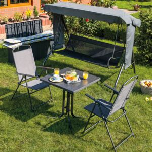 Table Dine & Relax 70 x 70 cm pizarra / anthracite PATIO