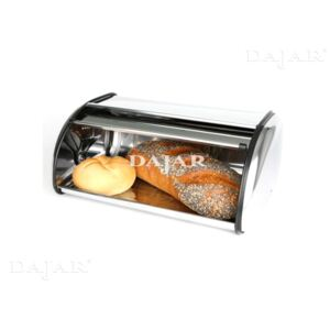 Bread box of stainless steel 43 x 27 x 18 cm DOMOTTI