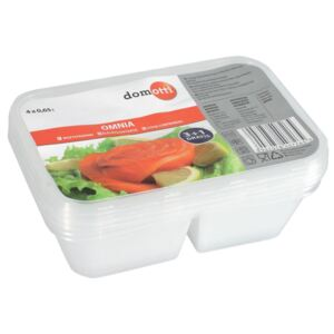 Set of 4 divided containers OMNIA 0.65L