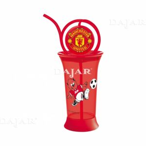 Water bottle with straw Manchester United 380 ml