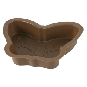 Silicone butterfly-shaped cake pan Delice Brown 29 x 6 cm AMBITION