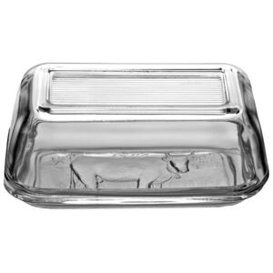 Glass butter dish with a pattern 17x10.5cm LUMINARC