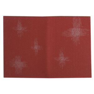 Table mat PVC/PS red star 30x45cm AMBITION