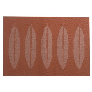 Table mat PVC/PS red Leaves 30x45cm AMBITION