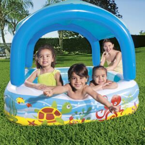 Inflatable swimming pool with roof 147 x 147 x 122 cm BESTWAY