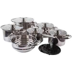 Set of pots stainless steel Urban 13 pcs AMBITION