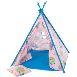 Teepee tent with pillow and mat Bears L069-11BW 104 x 104 x 124 cm PATIO