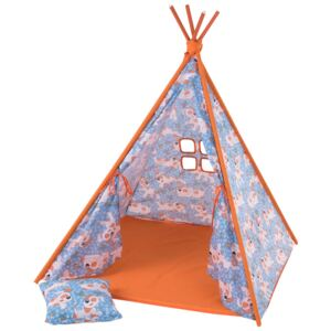 Teepee tent with pillow and mat Puppies L065-13BW 104 x 104 x 124 cm PATIO