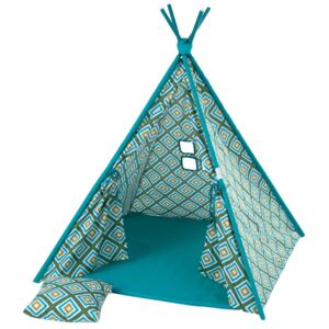 Teepee tent with pillow and mat Rhombi L068-21PB 100 x 100 x 148 cm PATIO