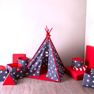 Teepee tent with pillow and mat Stars L064-03PB 104 x 104 x 124 cm PATIO