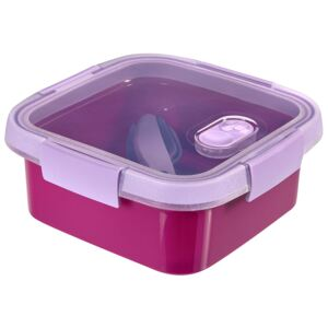 Food storage container To Go Lunch square 0,9 l purple CURVER