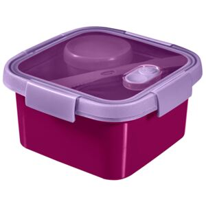 Food storage container To Go Lunch Kit square 1,1 l purple CURVER