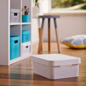 Storage box with lid transparent 11L Infinity white CURVER