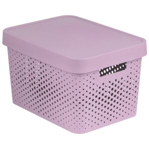 Storage box with lid transparent 17L Infinity pink CURVER