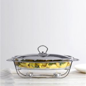Glass casserole dish with warmer Helios 3 l AMBITION