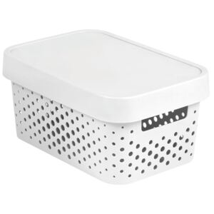 Storage box with lid transparent 4,5L Infinity white CURVER