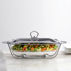 Glass casserole dish with warmer Helios 3,6 l AMBITION