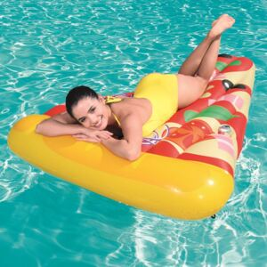 Inflatable mattress Materac plażowy Pizza Party 188 x 130 cm BESTWAY