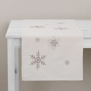 Table runner Snowflakes 40 x 150 cm AMBITION