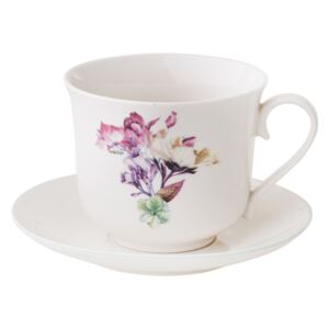 Cup with saucer Garden 450 ml pansy AMBITION