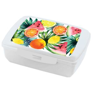 Lunchbox Tropical fruits white AMBITION